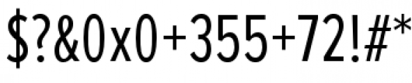 Proxima Nova Extra Condensed Regular Font OTHER CHARS