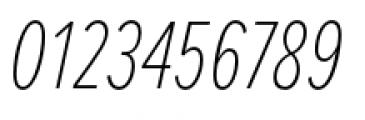 Proxima Nova Extra Condensed Thin Italic Font OTHER CHARS