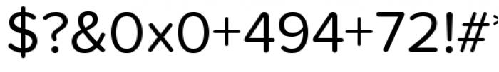 Proxima Nova Soft Regular Font OTHER CHARS