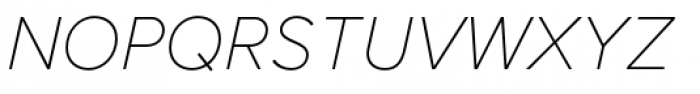 Proxima Nova Thin Italic Font UPPERCASE