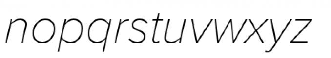 Proxima Nova Thin Italic Font LOWERCASE