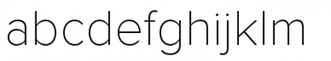 Proxima Nova Thin Font LOWERCASE