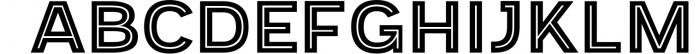 Provoke Trendy Inline Typeface 1 Font UPPERCASE