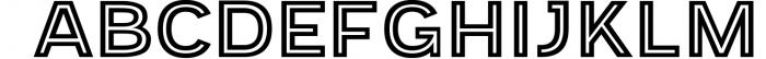 Provoke Trendy Inline Typeface 2 Font UPPERCASE