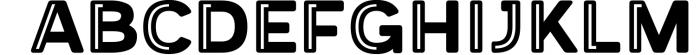 Provoke Trendy Inline Typeface 4 Font UPPERCASE