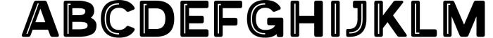 Provoke Trendy Inline Typeface 5 Font UPPERCASE