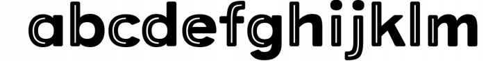 Provoke Trendy Inline Typeface 5 Font LOWERCASE