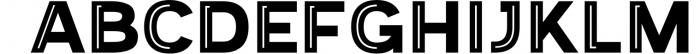 Provoke Trendy Inline Typeface 6 Font UPPERCASE