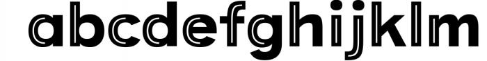 Provoke Trendy Inline Typeface 6 Font LOWERCASE