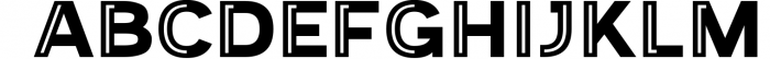 Provoke Trendy Inline Typeface 7 Font UPPERCASE