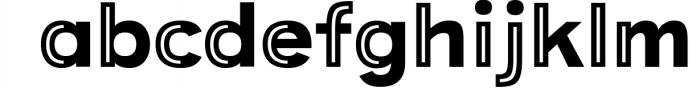 Provoke Trendy Inline Typeface 7 Font LOWERCASE