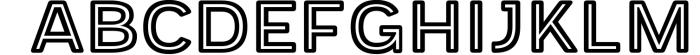 Provoke Trendy Inline Typeface Font UPPERCASE