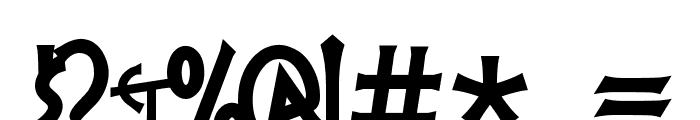 PR Agamemnon  Bold, Top Lining Font OTHER CHARS