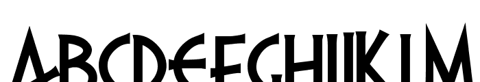 PR Agamemnon  Bold, Top Lining Font UPPERCASE