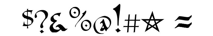 PR Celtic Narrow Font OTHER CHARS