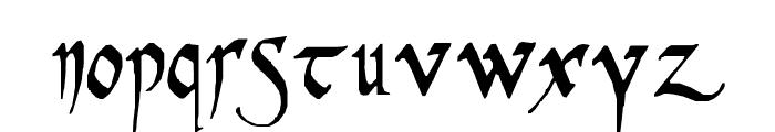 PR Celtic Narrow Font LOWERCASE