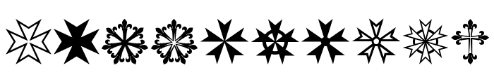 PR Compass Rose Normal Font OTHER CHARS