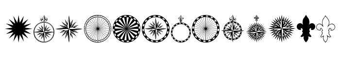 PR Compass Rose Normal Font UPPERCASE
