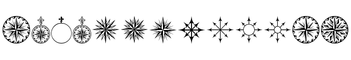 PR Compass Rose Normal Font LOWERCASE