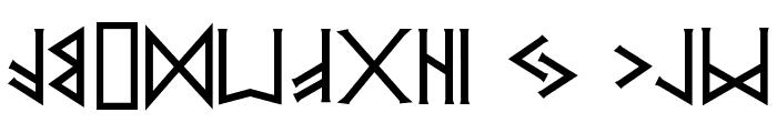 PR  Runes 2 Font LOWERCASE