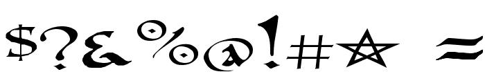 PR Uncial Alt Caps Extended Font OTHER CHARS