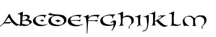 PR Uncial Alt Caps Extended Font LOWERCASE