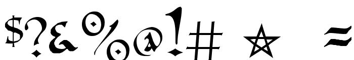 PR Uncial Alternate Capitals Font OTHER CHARS