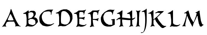 PR Uncial Alternate Capitals Font UPPERCASE