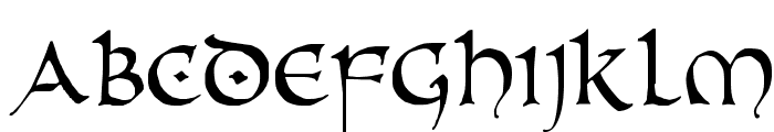 PR Uncial Alternate Capitals Font LOWERCASE