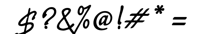 PR8 Charade Font OTHER CHARS