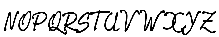 PR8 Charade Font UPPERCASE