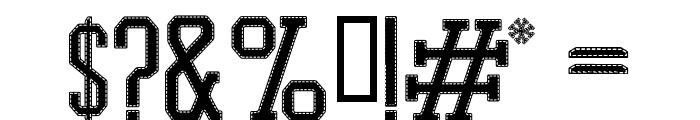 PROMESH Stitch Regular Font OTHER CHARS