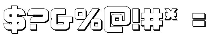 Praetorian 3D Regular Font OTHER CHARS