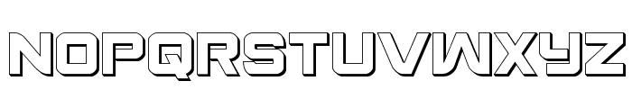 Praetorian 3D Regular Font LOWERCASE