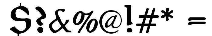 PragRoman Font OTHER CHARS