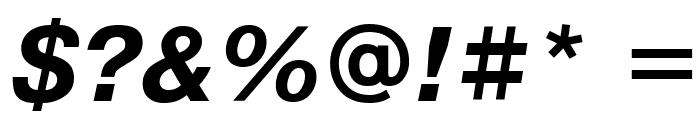 PragmaticaCTT BoldItalic Font OTHER CHARS