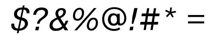 PragmaticaCTT Italic Font OTHER CHARS