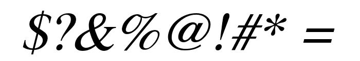Pravda Italic Font OTHER CHARS