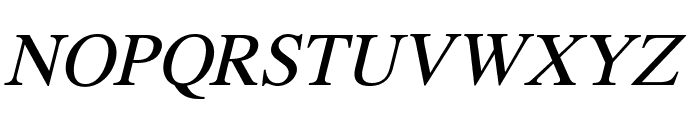 Pravda Italic Font UPPERCASE