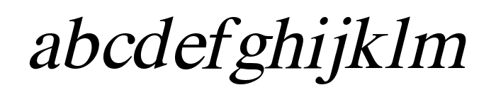 Pravda Italic Font LOWERCASE