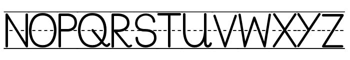 PreCursive_Lined Font UPPERCASE