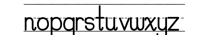 PreCursive_Lined Font LOWERCASE