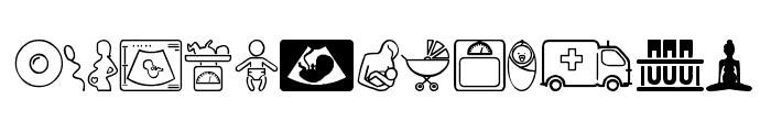 Pregnancy Font LOWERCASE