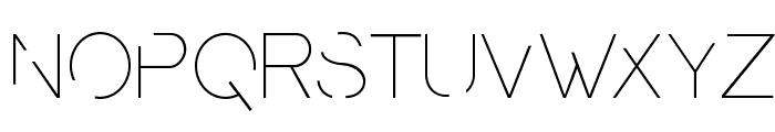 PresaUltralight Font LOWERCASE