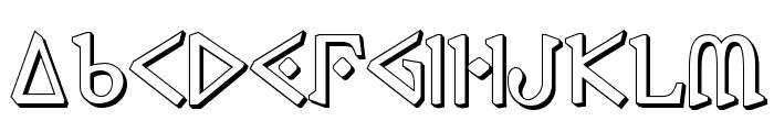Presley Press 3D Font UPPERCASE