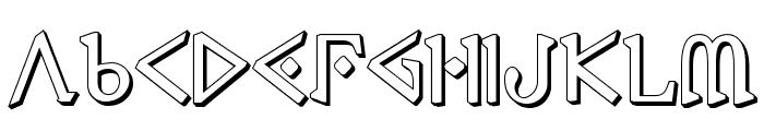 Presley Press 3D Font LOWERCASE