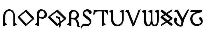 Presley Press Bold Font LOWERCASE