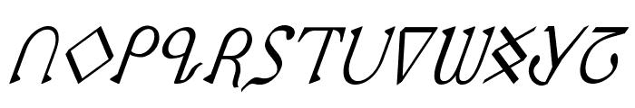 Presley Press CondItal Font UPPERCASE