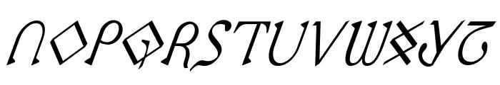 Presley Press CondItal Font LOWERCASE