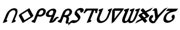 Presley Press ExtraBold Ital Font UPPERCASE